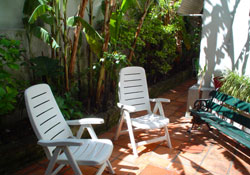 Patio in Montevideo language school